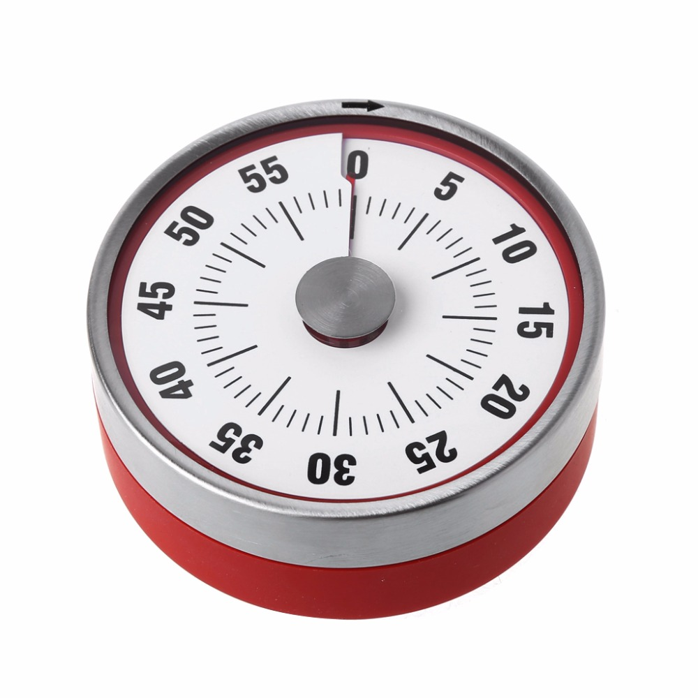 Stainless Steel Magnets Fridge Kitchen Timer Clock Mechanical Reminder Sport New Timers Tools 2019 New