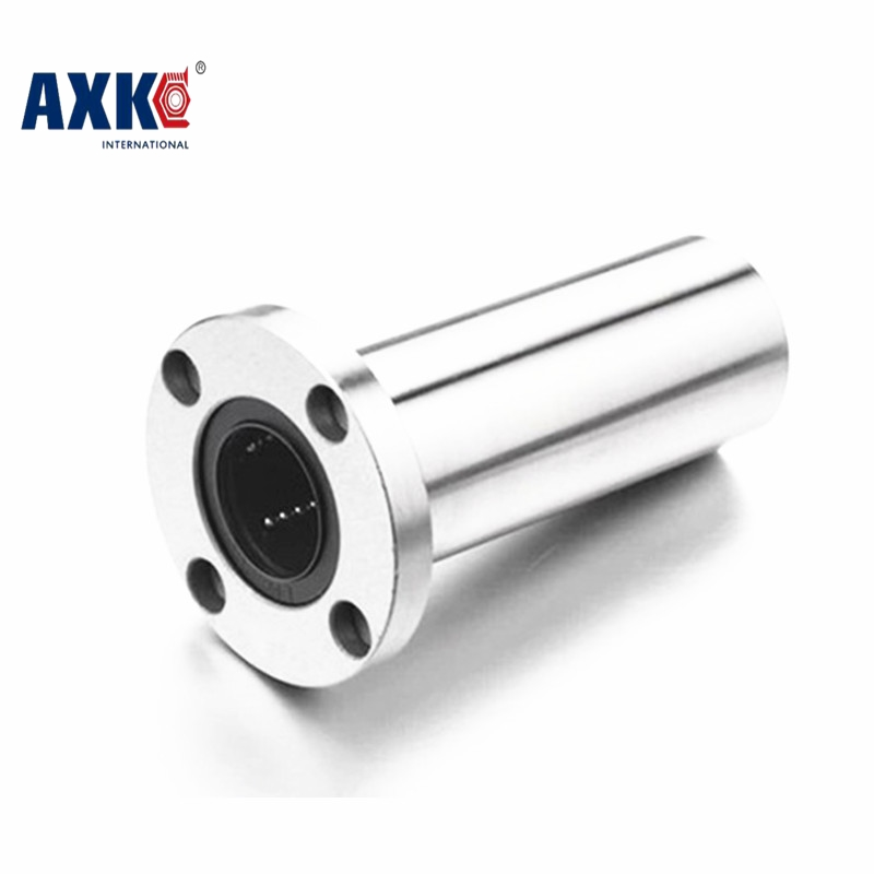 2Pcs/Lot LMF16UU 16mm Round Flange Linear Motion Bearing Bushing Ball Bearing CNC Parts Brand New lmh20luu 20mm inner dia oval flange mounted linear motion bushing ball bearing