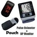 Oxímetro de pulso Monitor de Oxímetro Carring Pouch + Muñeca Monitor de Presión Arterial