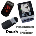 Pulse Oximeter Monitor+ Oximeter Carring Pouch + Wrist Blood Pressure Monitor