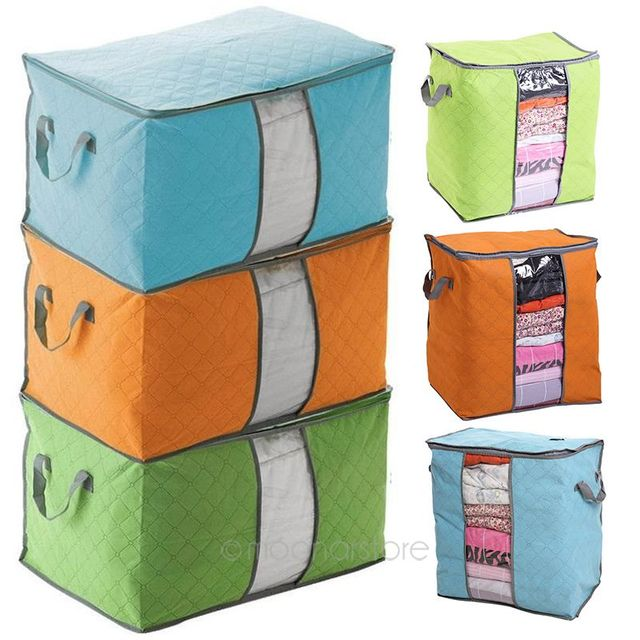 New Trustworthy Storage Box Portable Organizer Non Woven Clothing Pouch  Holder Blanket Pillow Underbed Storage Bag