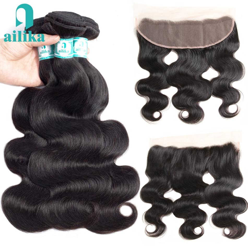 Jaycee Deep Wave Bundles With Closure Brazilian Hair Weave Bundles With Closure 3/4 Bundles Human Hair Extensions With Closure Hair Extensions & Wigs