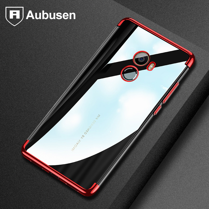Aubusn case for xiaomi mi mix 2 Plating craft pure TPU material made soft cover Xiaomi mi Mix 2 mix2 cover case