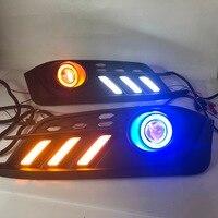 RQXR противотуманная фара вождение свет сборка для Honda Civic 10th cob angel eye светодиодные дневные ходовые огни сигнал поворота