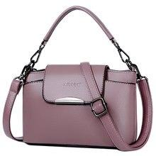 Fashion 100% Genuine Leather Women Messenger Bag Contrast Color Ladies Crossbody 2 Straps Bolso Mujer Wide Shoulder