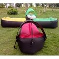 Lazy Beach Portable Outdoor Inflatable Furniture Sofa Sleeping Camping Air Bed Air Sofa Bag Sun Lounger (With Sunshade Umbrella)