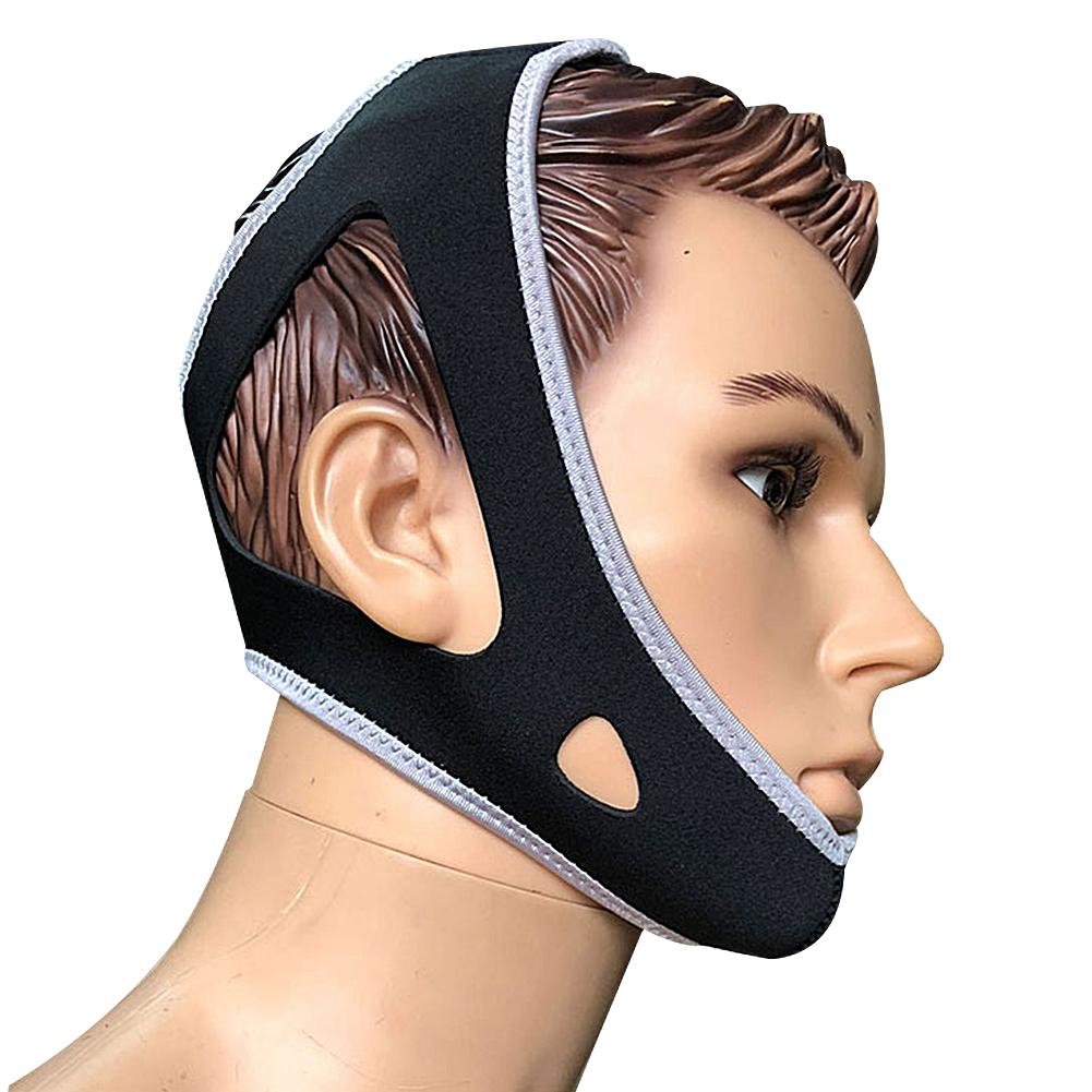 Neoprene Snoring Stopper Chin Strap With Chin Protection Band Anti Snoring Belt For Stop Snoring Clenching Tooth Grinding