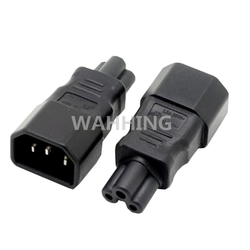 Universal Power Adapter IEC 320 C14 to C5 Adapter Converter C5 to C14 AC Power Plug Socket 3 Pin IEC320 C14 Connector HY1093