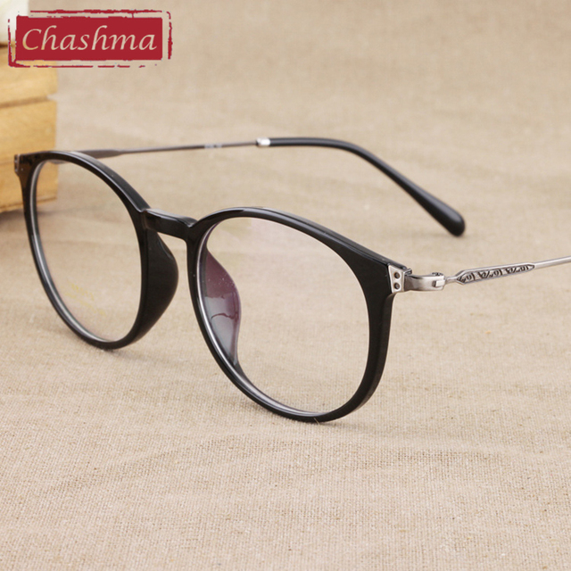 eb72ac4eb3 Chashma Brand Round Eyewear Fashion Men Optical Eye Glasses Frames Women  Glasses Trend Stylish Big Circle Retro Eyeglass Student