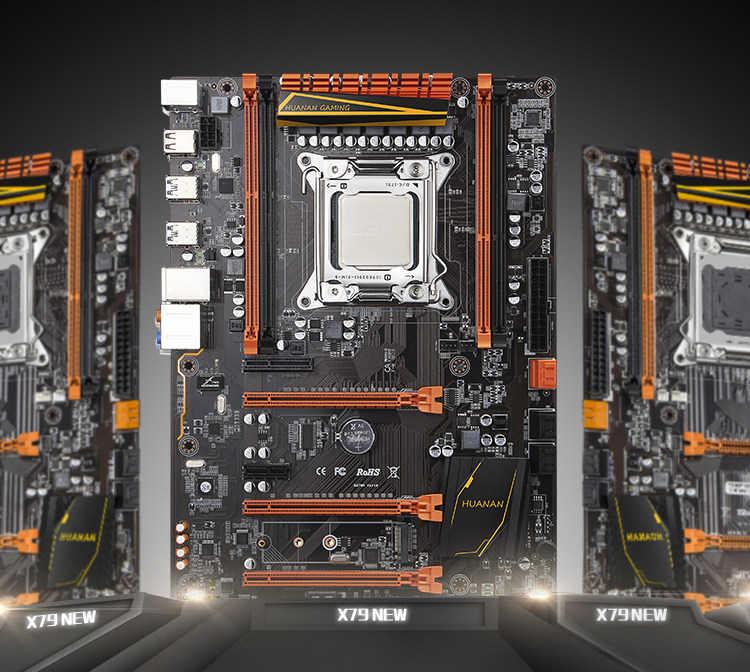 اللوحة مع M.2 فتحة هوانان تشى ديلوكس X79 الألعاب PC اللوحة مع وحدة المعالجة المركزية إنتل زيون E5 2620 V2 2.1GHz RAM 2*4G DDR3 RECC