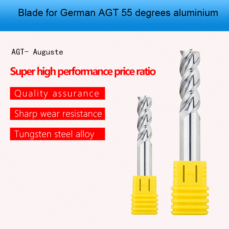 Augusttools Cnc Milling Cutter Carbide Mill Cutting HRC55 3 Flute Milling Cutter End Mill For Aluminum Copper Processing Tools