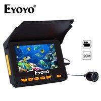 Eyoyo оригинальный 4,3 М 20 м рыболокаторы 150 градусов угол видео Запись DVR HD 1000TVL подводный Рыбалка камера ИК светодио дный солнцезащитный