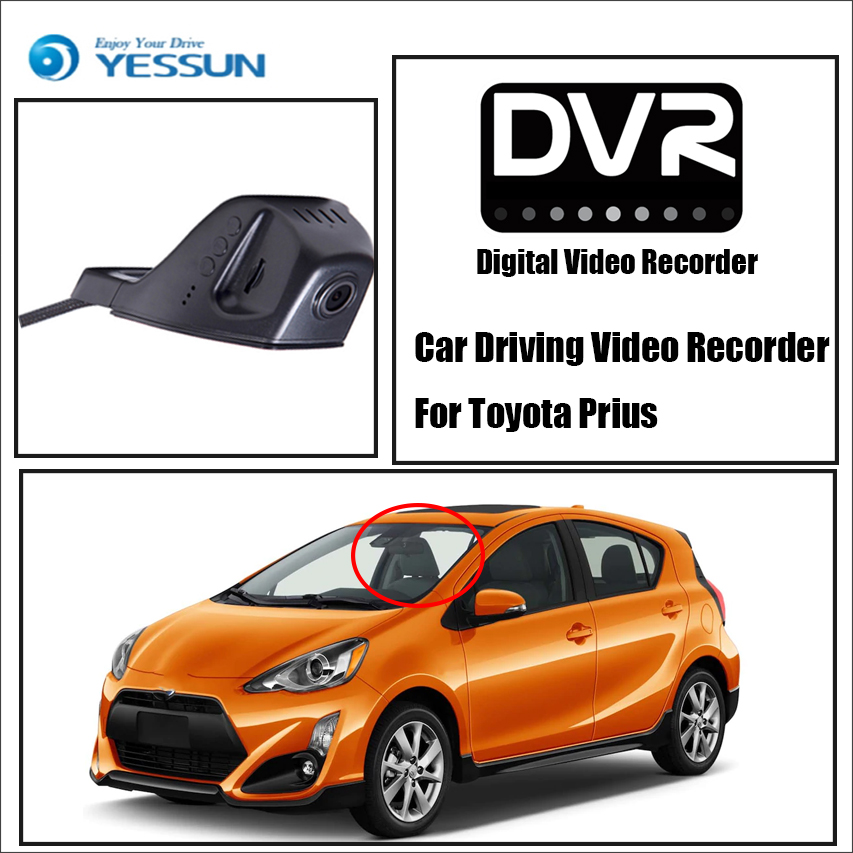 Enregistreur vidéo de conduite de voiture YESSUN DVR pour Toyota Prius caméra de tableau de bord avant HD 1080 P pas caméra arrière