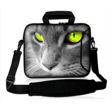 "Lonly Cat Unique Design Hot 10"" inch Tablet Shoulder Strap Carry Bag New Neoprene Netbook 10.1 Messenger Carry Handle Bags Cases"