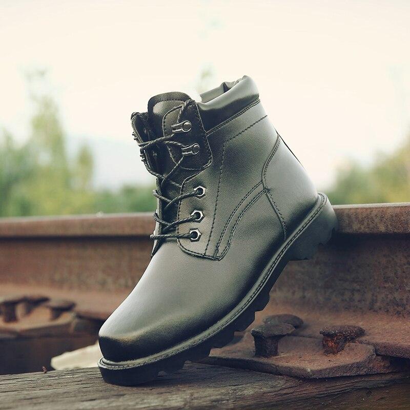 Résistant À D'hiver Date Hommes Mode Qualité Occasionnels Cuir Bottes Split En Chaussures Haute Osco Marque Garder Kh3518bl Hot Au Chaud L'usure q66SFZ