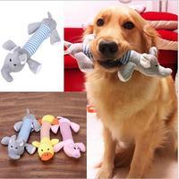 Nuovo cane toys pet puppy chew squeaker squeaky peluche suono anatra pig & elephant toys 3 disegni di trasporto libero
