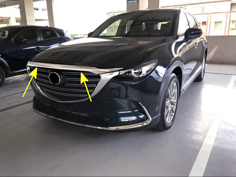 For <font><b>Mazda</b></font> <font><b>CX9</b></font> CX-9 2nd Gen. 2016 <font><b>2017</b></font> 2018 2019 ABS Chrome Front Head Engine Lid Decoration Cover Trim Car Accessories Styling image