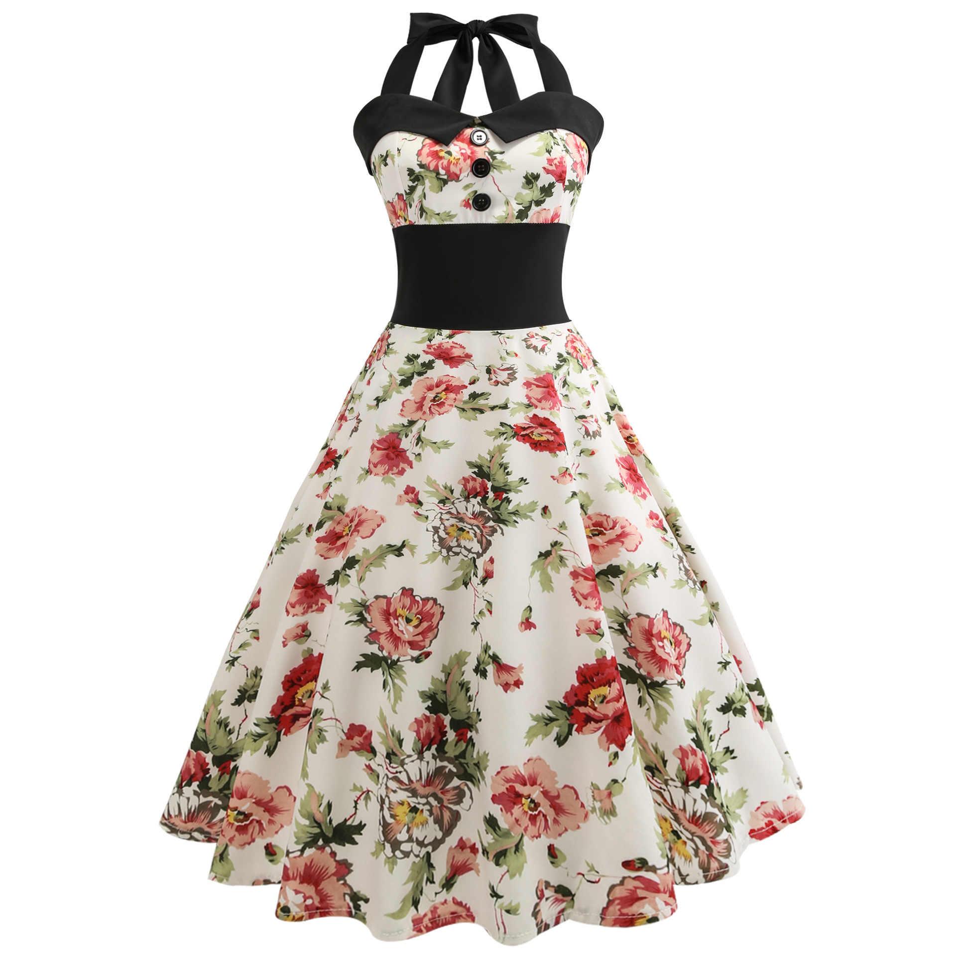5c793cc0b1c6b Summer Dress 2019 Casual Floral 50s 60s Retro Vintage Dress Women Robe  Rockabilly Swing Pinup Vestido Sexy Elegant Party Dresses