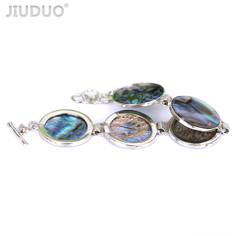 Round bobbin bangles Fashion Abalone Shell Bracelet Creative gold plated jewellery for women