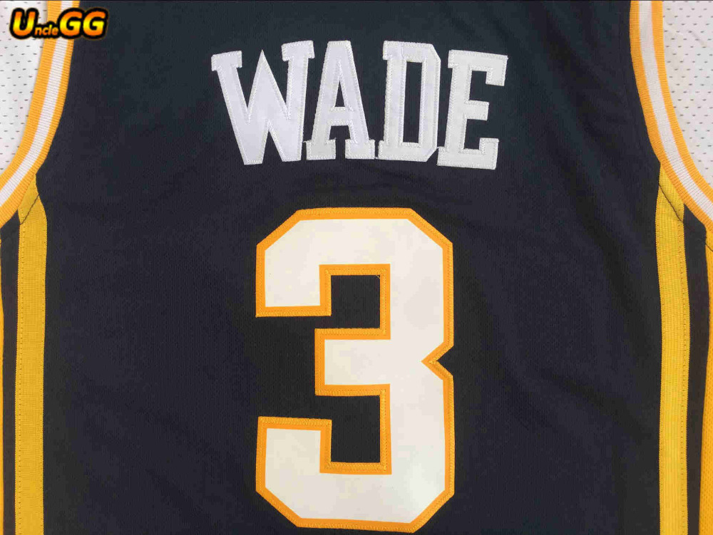 83ab3968d5f ... discount uncle gg men basketball 3 dwyane wade college marquette golden  eagles jerseys sale embroidery and