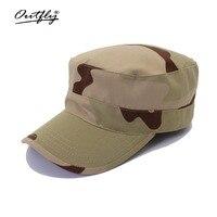 Camouflage platte top hoed 2017 nieuwe heren platte top hoed militaire training hoed soldaat training cap patrol hoed mode hoge kwaliteit