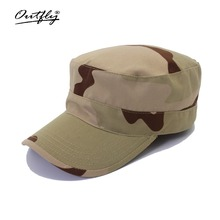 цена на Camouflage flat top hat 2017 new men's flat top hat military training hat soldier training cap patrol hat fashion high quality