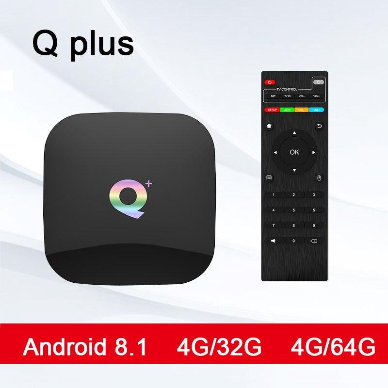 Nouveau T95Q + plus Android 8.1 TV box 4G32G 4G64G H6 Quadcore cortex-A53 Mali-T720MP2 USB3.0 WIFI HDMI 2.0 6 K PK MI S