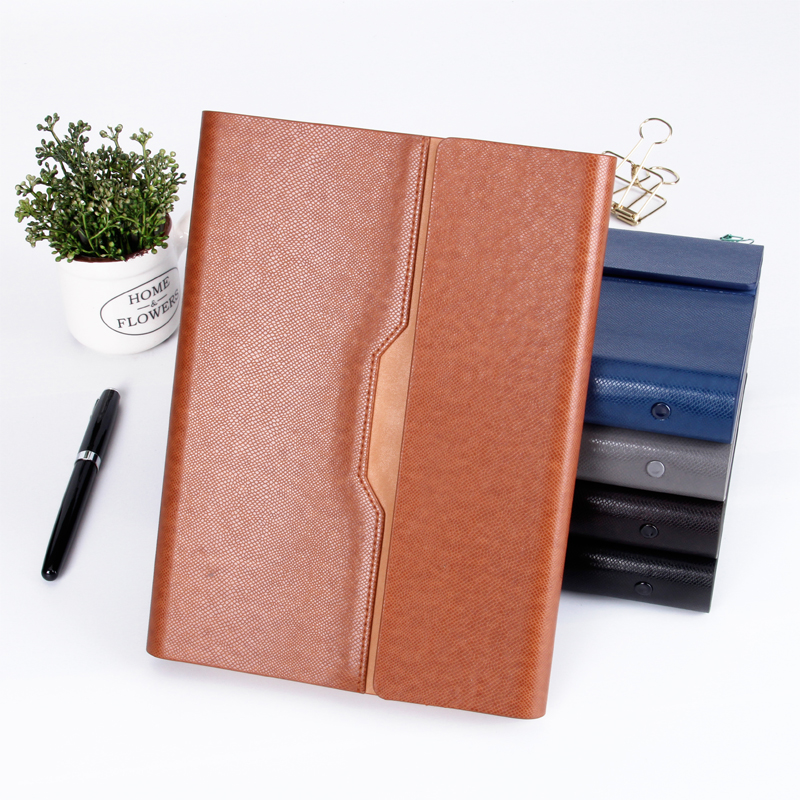 Pu Leather Loose Leaf Notebook Hardcover Journal Ring