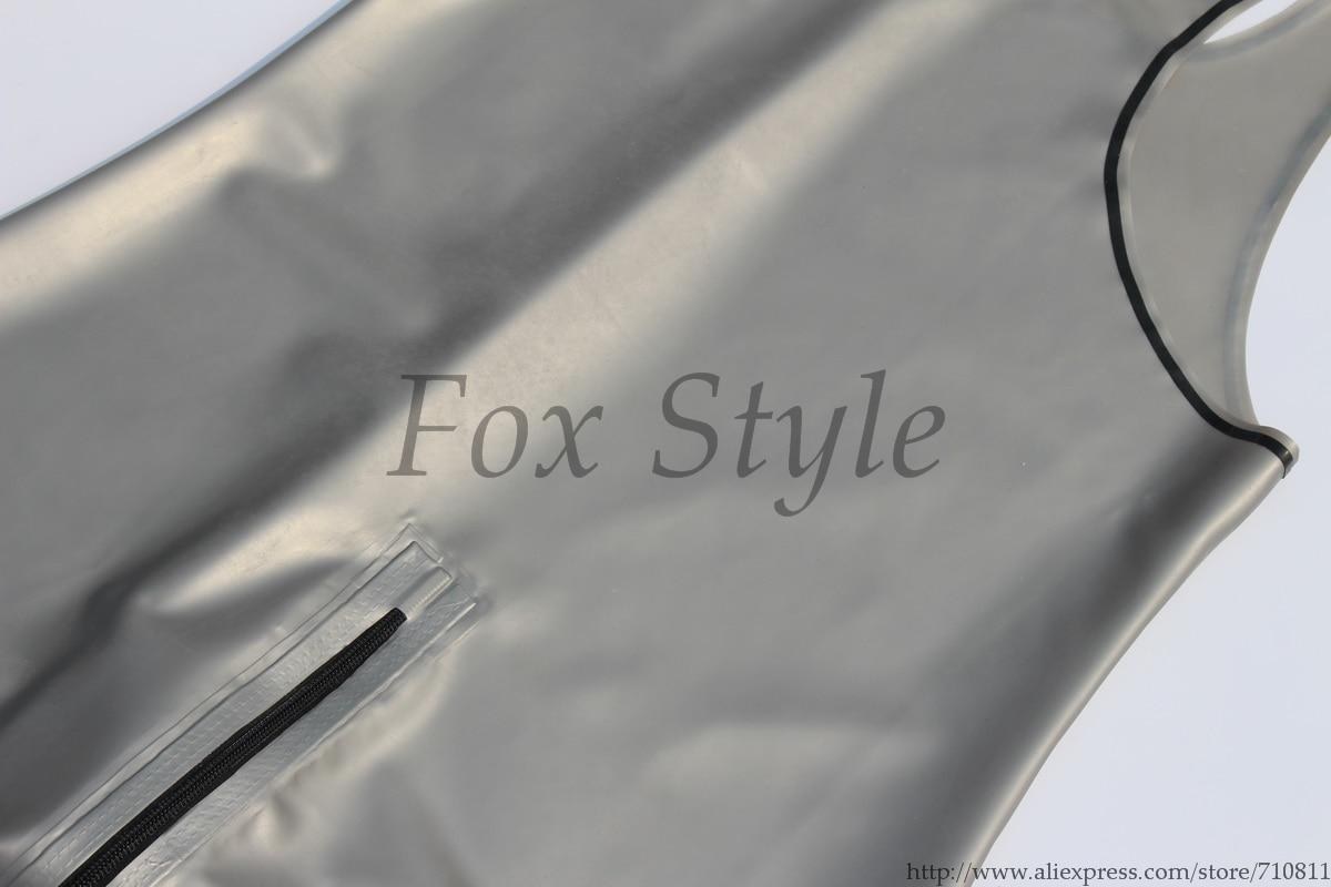 100% handgefertigte Qualität Italien Metallic Silber Argent Latex - Herrenbekleidung - Foto 4