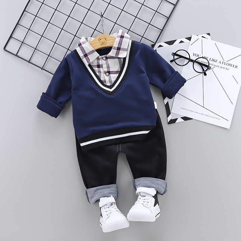 2019 Baby Boy Girl Clothes Set Children Clothing Sets Products Kids Clothes Baby Boys Girls T-shirts+Pants Spring Autumn