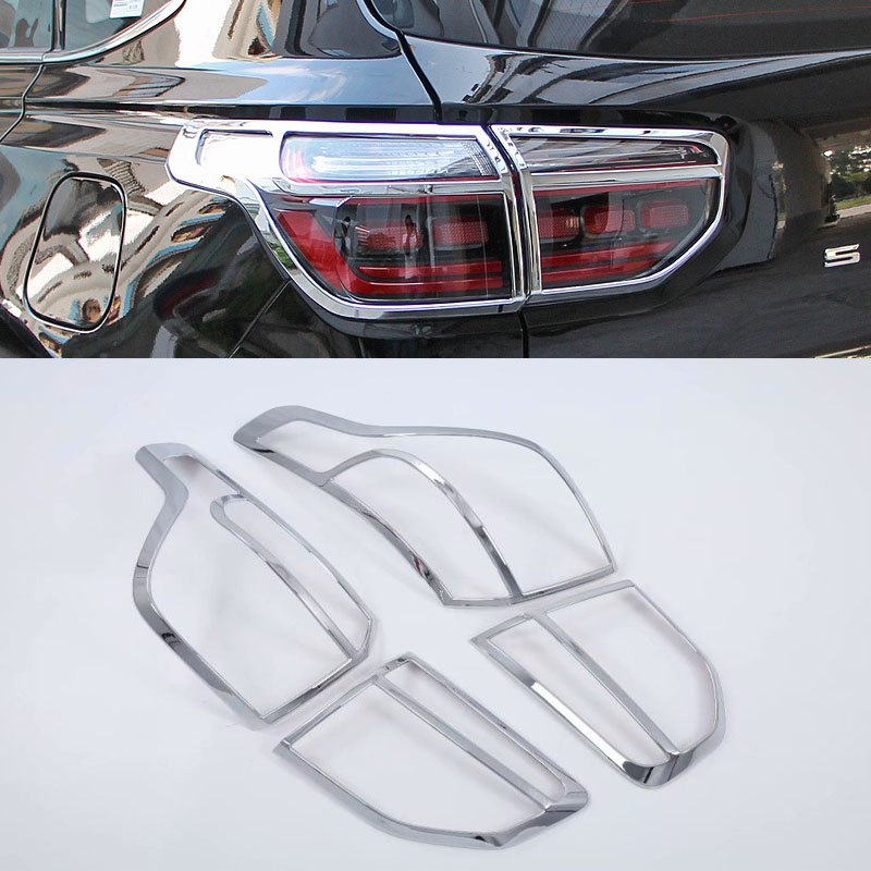 For Sportage R 2018 on Car Taillight Tail Lights Covers Chrome Trim Chromium Styling External Decoration|Chromium Styling| |  - title=