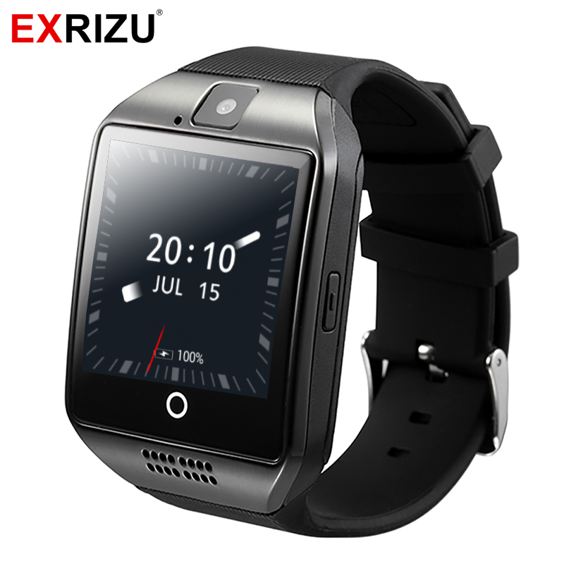 EXRIZU Q18 Plus Android 4.4 Smart Watch MTK6572 Dual-core 512M+4GB Support WIFI 2G/3G SIM Card Bluetooth Smartwatch Camera Music vecdory android smart watch gps watch android wear smart watches 3g wifi 512m 4g bluetooth smartwatch sim support 32g tf card