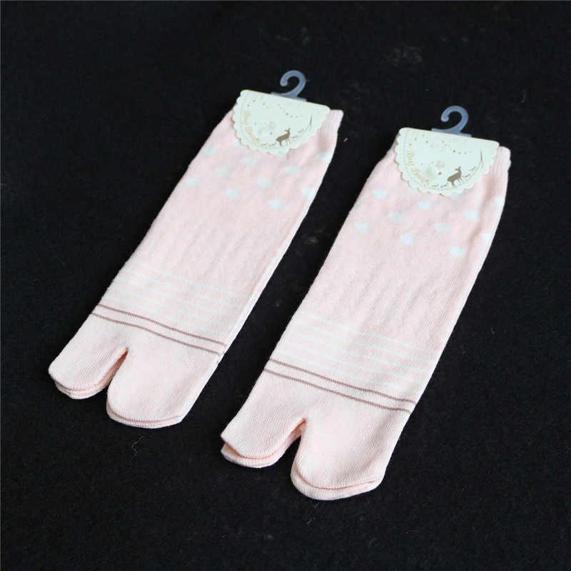 ญี่ปุ่นFlip Flop SandalแยกToe Tabiนินจาถุงเท้าFootful Women 'S Kimonoเท้านิ้วมือGeta Clogผ้าฝ้ายถุงเท้าสีฟ้าถุงเท้าสีชมพู