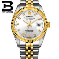 Switzerland BINGER Watch Men Automatic Mechanical Mens watches Luxury Brand Wristwatch Sapphire waterproof reloj hombre 373 7