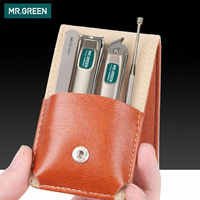 MR.GREEN Professional Stainless steel nail clippers set home 4 in 1 manicure tools grooming kit art portable nail personal clean