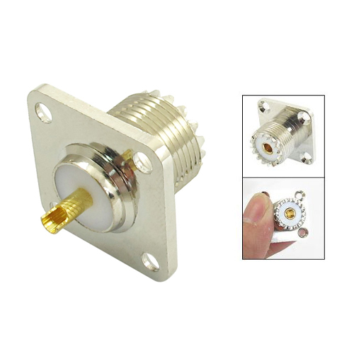 KSOL SO-239 Female Jack Square Shape Solder Cup Coax Connector For Radio