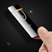 New Business Style Charging  Electronic USB Lighter Plasma Cigarette gift for smoking Tools Rechargeable