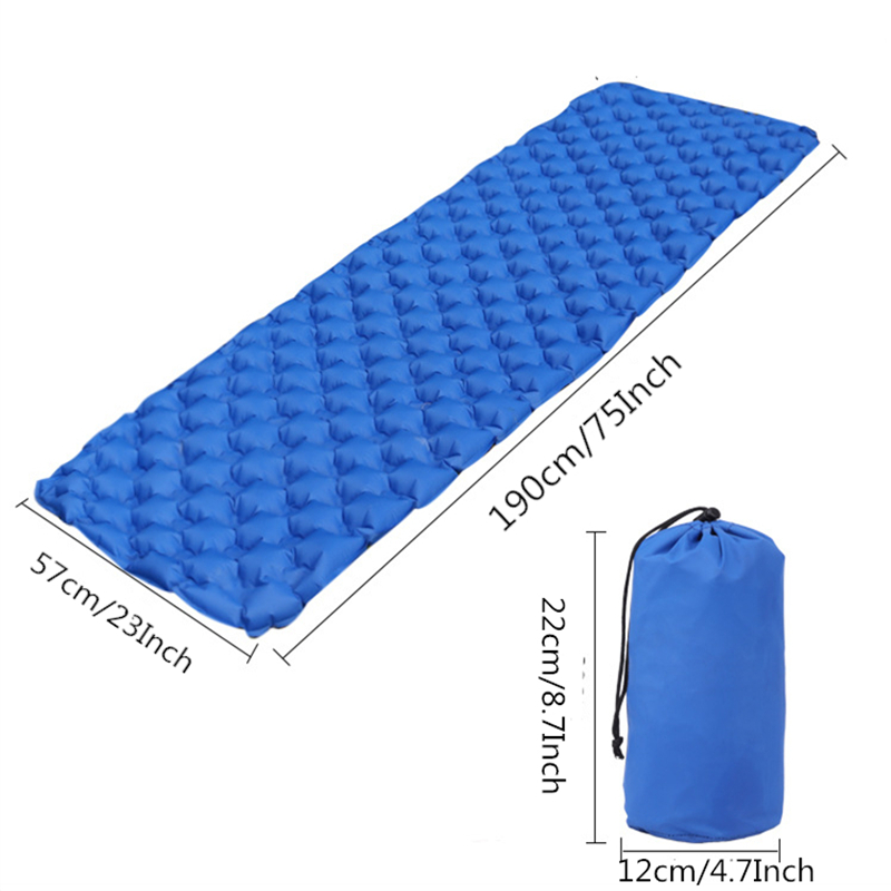 Image 2 - VILEAD Ultralight Portable Air Mattress Inflatable Cushion Sleeping Pad  for Camping Hiking Backpacking Self Travel 190*57 cm-in Air Mattresses from Sports & Entertainment