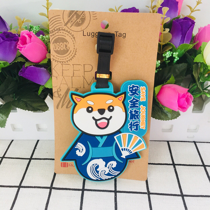Cartoon Dog Keychain PVC Key Chain Shiba Inu Dali Temple Waist Tag Boarding Pass Cute Fun Personalized Pendant Baggage Tag Gift