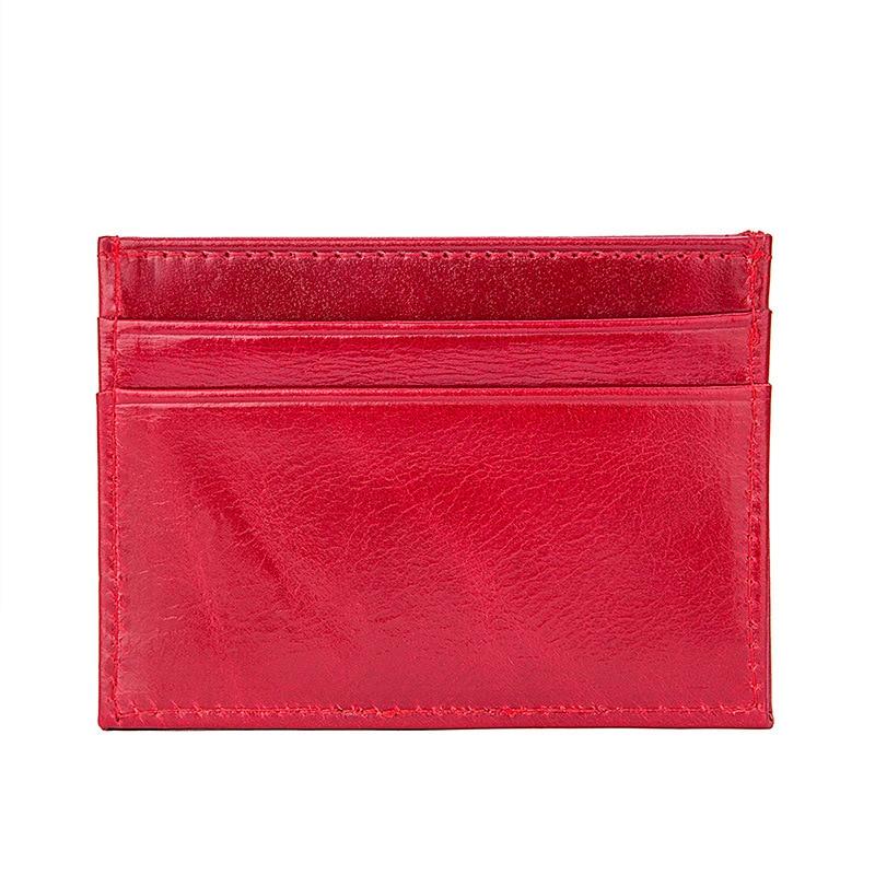Super Slim Soft RFID 100% Genuine Leather Women Card Holders Card Case Credit Card Organizer Men Wallets Female Purse #J8174