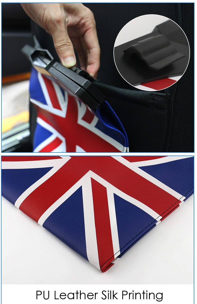 Leather Car Seat Storage Bag Trash Bag Basket for Mini Cooper R55 R56 R57 R58 R59 F54 F55 F56 F57 Countryman R60 F60 (3)
