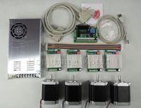 CNC Router Kit 4 Axis, 4 cái TB6600 4.5A stepper motor driver + 4 cái Nema23 270 Oz-in động cơ + 5 trục giao diện board + cung cấp điện