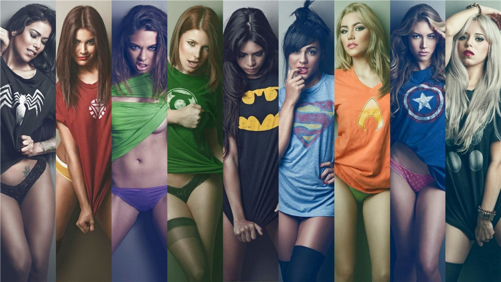 24X36 Inch  Art Silk Poster  Sexy Ladies Superman Poster -8746