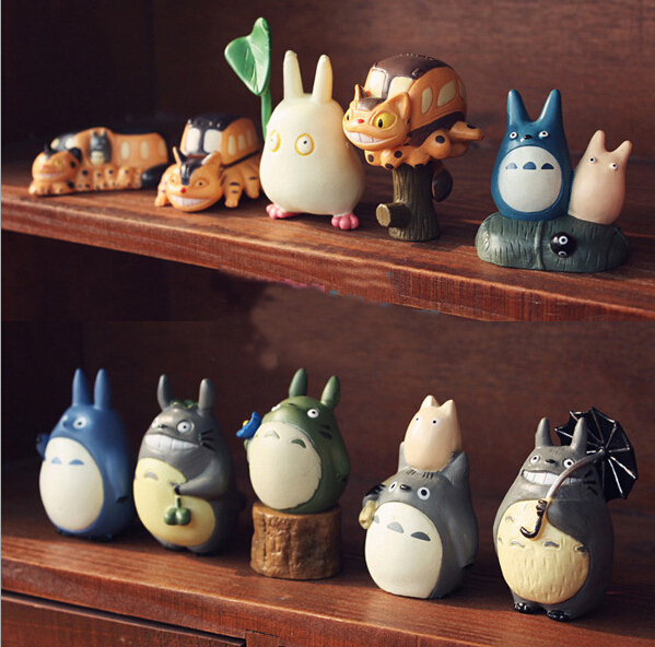 цена на 10pcs/set Miyazaki Hayao My Neighbor Totoro Mini Action Figures PVC brinquedos Collection Figures toys for christmas gift