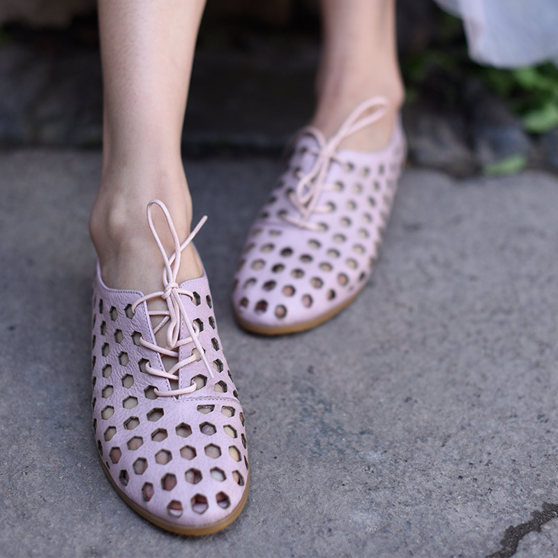 Artmu Original Summer Hollow out Women Shoes Handmade Genuine Leather Sandals Shoes Breathable Beach Shoe Soft