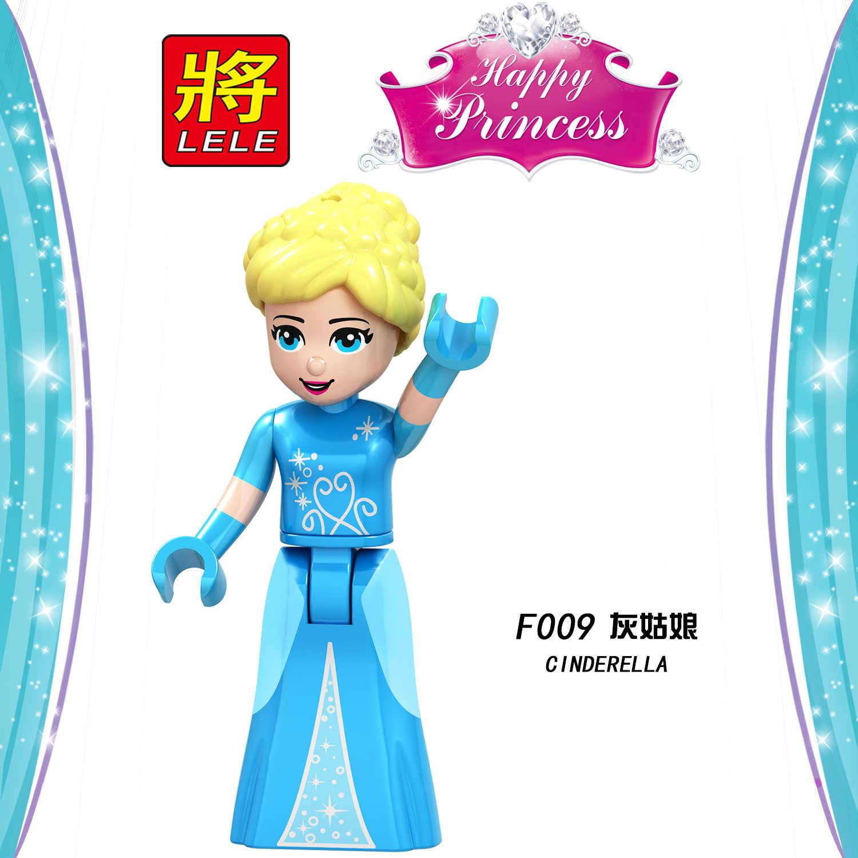 Blokowania księżniczka figurki Snow White Belle Anna Elsa kopciuszek zestaw klocki bloki DIY zabawki dla dzieci Lockings przyjaciele rysunek