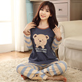 New autumn winter long-sleeve lovely cartoon women sleepwear pajamas women clothing sets female girls' pajamas sets