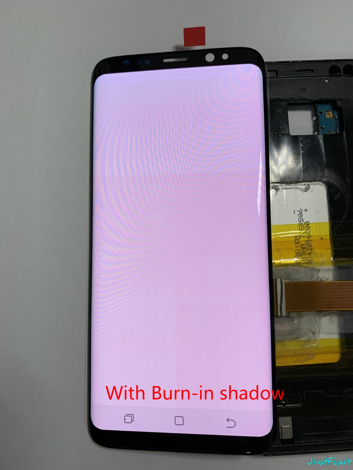 HTB1yG3AXPzuK1Rjy0Fpq6yEpFXae Original Screen with Burn-in Shadow For Samsung Galaxy S8 G950F G950fd lcd display touch screen Digitizer Super amoled