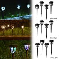 Plastic LED Solar Lawn Lamp Waterproof Outdoor Path Light Garden Decoration