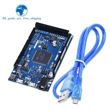 Official Compatible DUE R3 Board SAM3X8E 32-bit ARM Cortex-M3 / Mega2560 R3 Duemilanove 2013 For Arduino Due Board With Cable(China)
